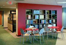 Library Photo from Orlando office at Professional Testing Inc