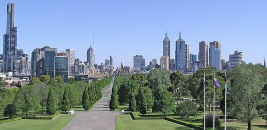 """""""Melbourne CBD (View from the top of Shrine of Remembrance)"""" by Donaldytong"""