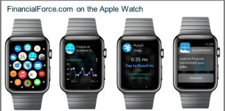 FinancialForce Apple Watch App (Source FinancialForce)