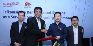 Telkomsigma and Huawei sign deal (Image Credit: Huawei via PRNewswire)