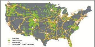 CenturyLink National Map (Source:CenturyLink)