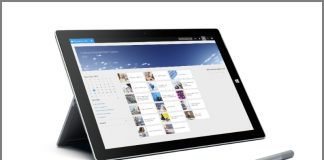 Dynamics AX Stand up tablet screen (Source Microsoft)