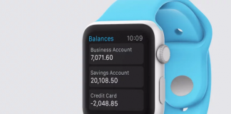 Xero iWatch App (Source Xero video)