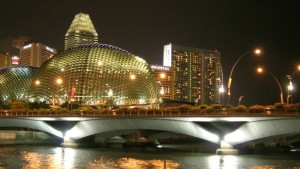 Singapore at night, Image Credit Freeimages.com/C. K. Vishwakarma