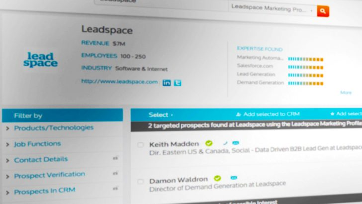 Leadspace targets improved lead generation