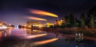 Factory : Image CRedit Pixabay/SkitterPhoto - https://pixabay.com/en/factory-night-long-exposure-1509853/