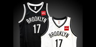 Infor sponsoirs the Brooklyn Nets and brings red to the shirt (image Source: Brooklyn Nets)