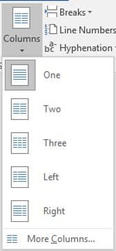 Columns Tool List
