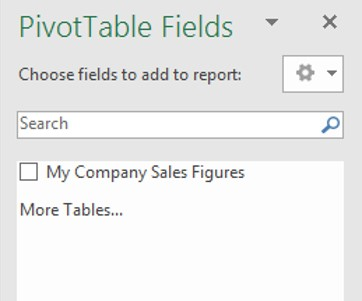 empty pivot table fields