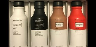 Soylent bottles - By JohnnyBGoode11 (Own work) [CC BY-SA 4.0 (http://creativecommons.org/licenses/by-sa/4.0)], via Wikimedia Commons