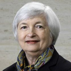 Janet Yellen Chairman of the Fed at Federal Reserve System Image By United States Federal Reserve [Public domain], via Wikimedia Commons
