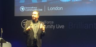 Tod Nielsen keynote at FinancialForce Community Live London 2017 (Image CRedit Steve Brooks (c) 2017