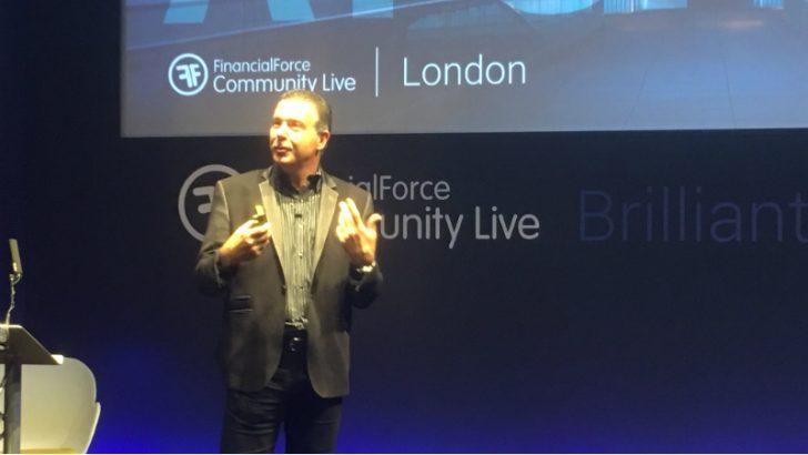 Tod Nielsen keynote at FinancialForce Community Live London 2017 (Image CRedit Steve Brooks (c) 2017