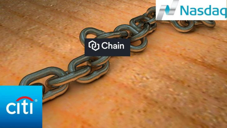 Chain joins together citi and NASDAQ (Image credit Pixabay/wsyperek (+ citi/NASDAQ/Chain)