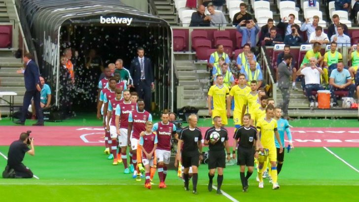 West Ham v NK Domzale at the London Stadium By Egghead06 (Own work) [CC BY-SA 4.0 (http://creativecommons.org/licenses/by-sa/4.0)], via Wikimedia Commons