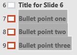 select titles