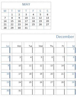 Calendar 2 and 3