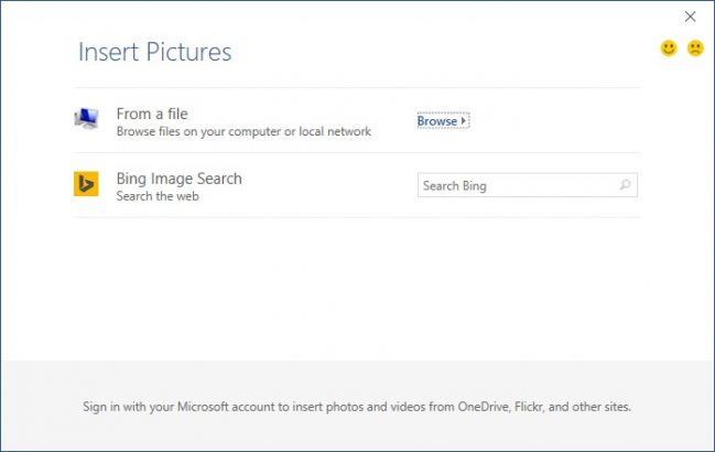 Insert Picture Dialog Box