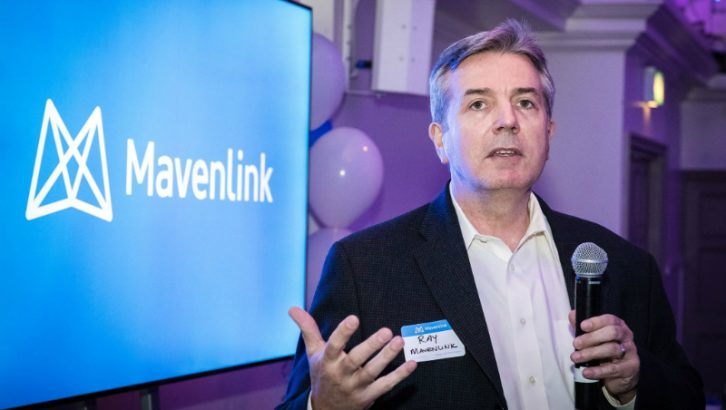 Ray Grainger at the MavenLink London opening celebration (Image credit Mavenlink on Facebook)