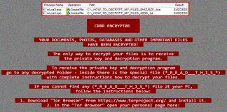 Cerber Ransomware screenshot
