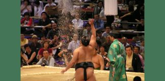 Sumo throwing salt Image credit Freeimages/Alexander Warnolf