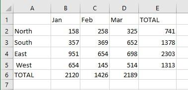 Basic Spreadsheet