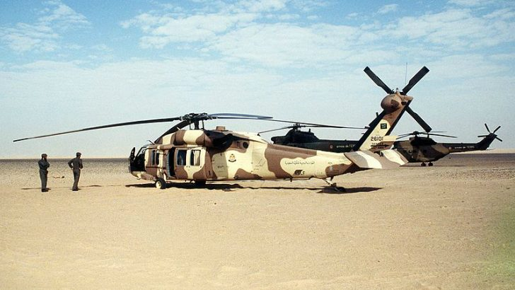 Saudi Sikorsky S-70 Desert Storm.jpg [x] By Tech. Sgt. H. H. Deffner [Public domain], via Wikimedia Commons