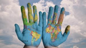 Hands World Cloud (Image credit Pixabay/Stokpic)