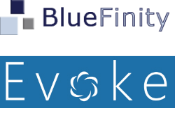 Bluefinity and Evoke Logo , image credit (c) BLuefinity