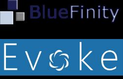 Bluefinity and Evoke Logo , image credit (c) BLuefinity