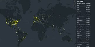 Threat Map October, Malwarebytes