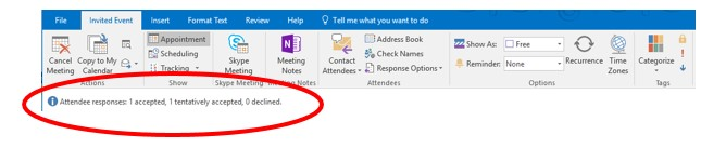 Tips – setting up a meeting in Outlook Calendar -
