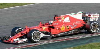 Kimi Raikkonen 2017 Catalonia test (27 Feb-2 Mar) Day 4 By Morio (Own work) [CC BY-SA 3.0 (https://creativecommons.org/licenses/by-sa/3.0)], via Wikimedia Commons