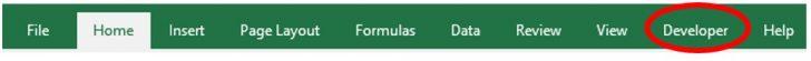 Developer tab added