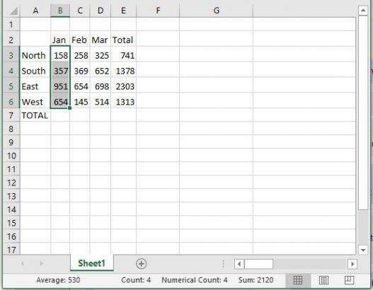 Status Bar calculations