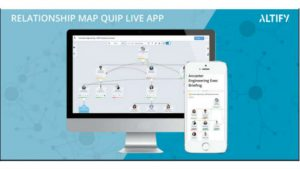 Altify Relationship Map Quip Live App (Image credit: Altify)
