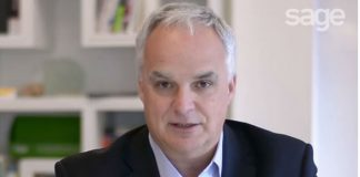 Alan Laing, Sage MD UK&I (Image credit Sage - YOuTUbe)