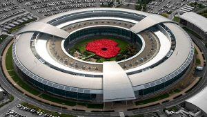 Aerial view of GCHQ's giant poppy (Image Credit: GCHQ)