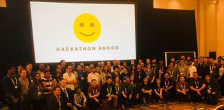 Hackathon 4Good contestants and Judges m(Image credit S Brooks)