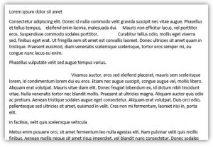 Odd spaces in document