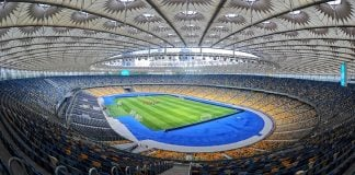 Olimpiyskiy National Sports Complex in Kiev, Ukraine