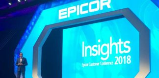 (c) 2018 S Brooks Humanshu Pulsale, CTO Epicor on stage at Epicor Insights