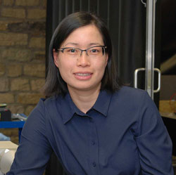 Doctor Qunfen Qi, a Research Fellow at the University of Huddersfield's EPSRC Metrology Hub
