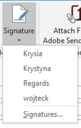 Signature list
