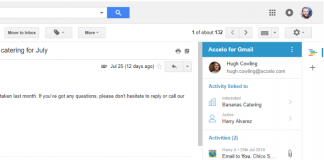 Accelo Gmail Addon