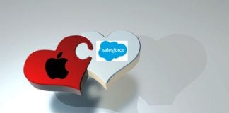 SApple Aand Salesforce IMage CRedit Pixabay/PIRO4D, Apple and Salesforce