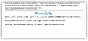 Bibliography edit fields