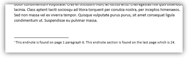 Endnote example
