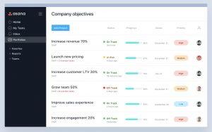 Screenshot of portfolios (c) 2018 Asana