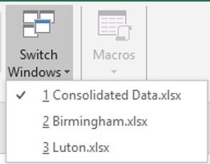 Open files list